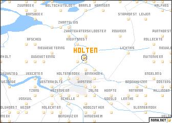 Holten Netherlands map nonanet