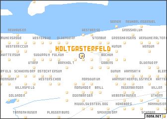 map of Holtgasterfeld