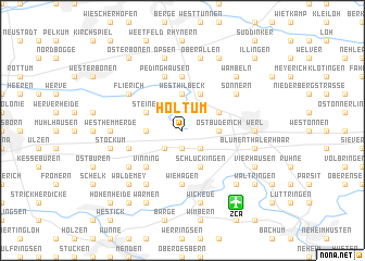 map of Holtum