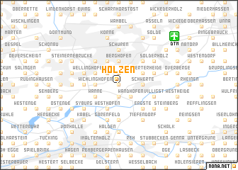 map of Holzen
