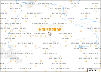 map of Holzerode