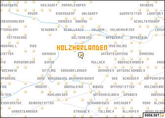map of Holzharlanden