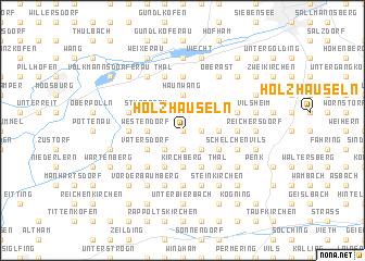 map of Holzhäuseln