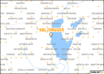map of Holzhausen