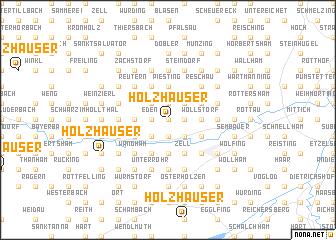 map of Holzhäuser