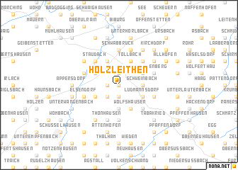map of Holzleithen
