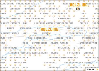 map of Hölzling