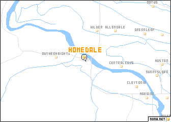 map of Homedale