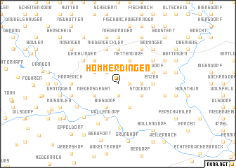 map of Hommerdingen
