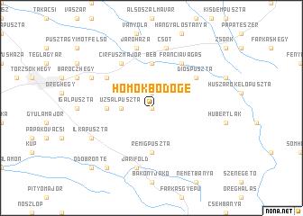 map of Homokbödöge