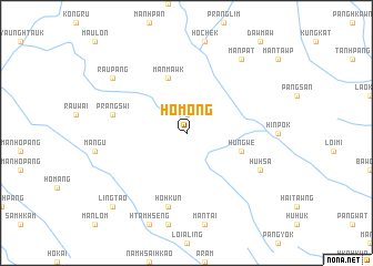 map of Ho-möng