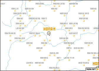 map of Ho-nam