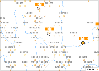 map of Hona