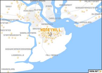 map of Honey Hill