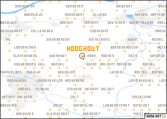 map of Hooghout