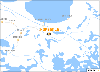 map of Hopedale