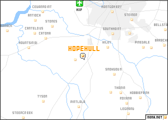 map of Hope Hull