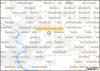map of Hoppersheide