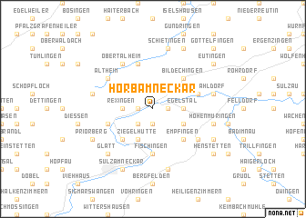 map of Horb am Neckar