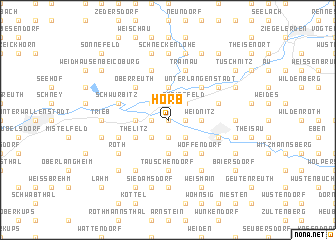 map of Horb