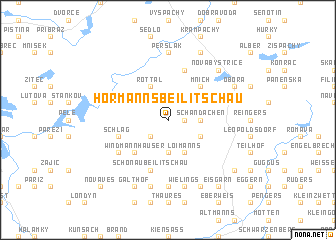 map of Hörmanns bei Litschau