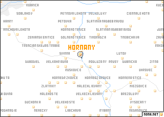 map of Horňany