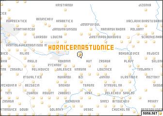 map of Horní Černá Studnice
