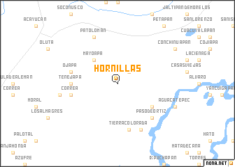 map of Hornillas