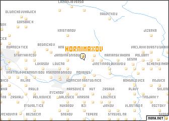 map of Horní Maxov