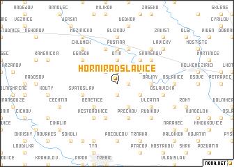 map of Horní Radslavice