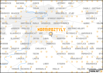 map of Horní Roztyly