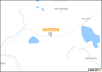 map of Hornone
