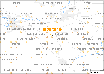 map of Hörnsheim
