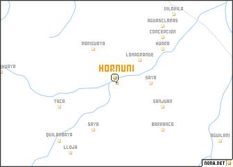 map of Hornuni