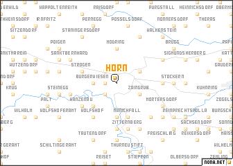 map of Horn