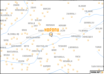 map of Horonu