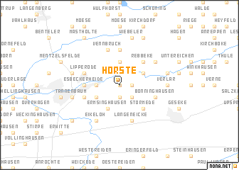 map of Hörste