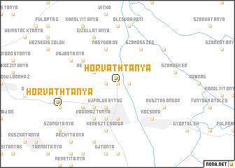 map of Horváthtanya