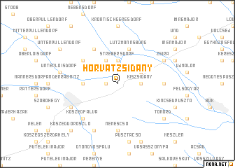 map of Horvátzsidány