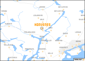 map of Horvenes