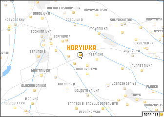 map of Hor\