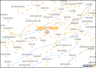 map of Ḩoseyn Kūh