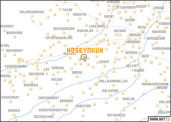 map of Ḩoseyn Kūh