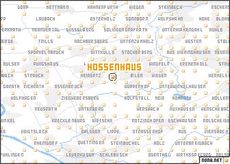map of Hossenhaus