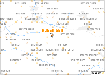 map of Hossingen