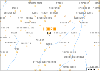 map of Houria