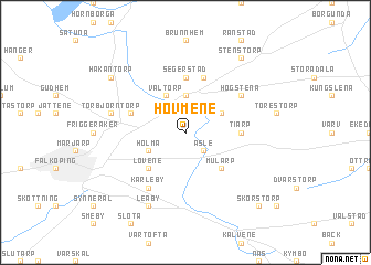 map of Hovmene