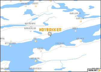 map of Høybakken
