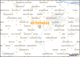 map of Hoyerswege