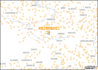 map of Hozanovići